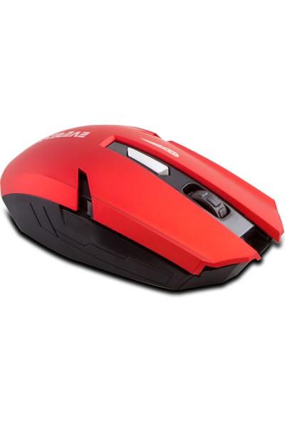 Everest Km-240 Usb Kırmızı 2.4Ghz Optik Kablosuz Mouse