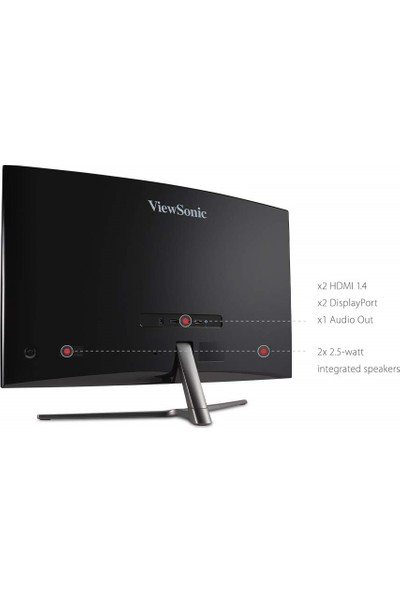 "ViewSonic VX3258-PC-MHD 31.5"" 165Hz 1ms (HDMI+Display) FreeSync Full HD Curved Monitör"