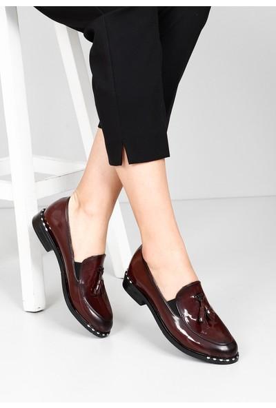 Gön Kadın Ayakkabı 37103 Bordo Rugan