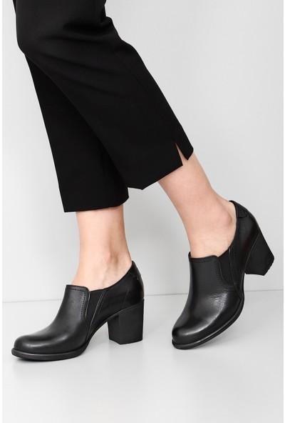 Gön Hakiki Deri Kadın Ayakkabı 24038 Siyah