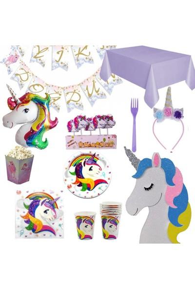 PartiPan Unicorn Doğum Günü Partisi Set 8 Kişilik