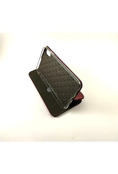 Arma Apple iPhone X Max Kapaklı Kılıf + Ekran Koruyucu Kırılmaz Cam - Bordo