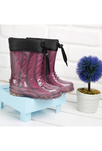 Sanbe 901P3102 Yağmur Su Geçirmez Kız/erkek Çocuk Çizme Fuşya