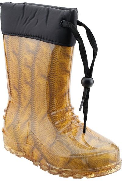 Sanbe 901P3102 Yağmur Su Geçirmez Kız/erkek Çocuk Çizme Hardal