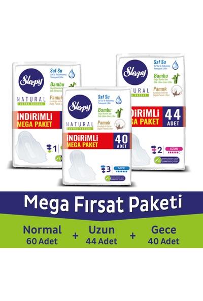 Sleepy Natural Ultra Hassas Mega Paket 40 + 60 + 44