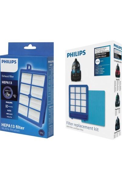 Philips Uyumlu Marathon Ultimate Ön ve Arka Hepa Filtre Seti