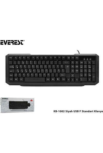 Everest Kb-1002 F Usb Sıyah Standart Klavye