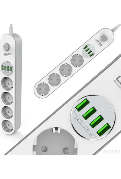 Mobitell Ldnio 4u Akım Korumalı 4'lü Priz 3.4A X4 USB