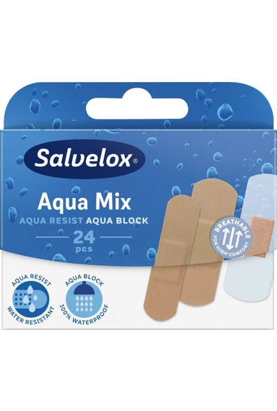 Salvelox Aqua Mix - Suya Karışık Yara Bandı 24 Adet