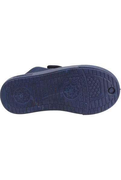 Sanbe 106P102 Okul Kreş Kız/erkek Çocuk Keten Panduf Ayakkabı Lacivert