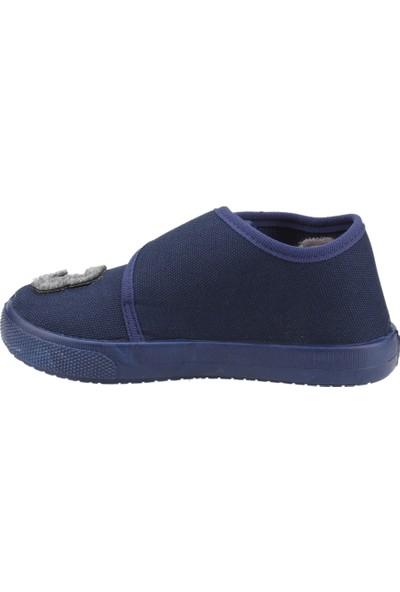 Sanbe 106P104 Okul Kreş Kız/erkek Çocuk Keten Panduf Ayakkabı Lacivert