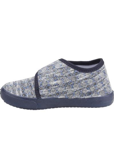 Sanbe 106P124 Okul Kreş Kız/erkek Çocuk Keten Panduf Ayakkabı Lacivert