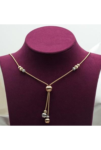 Label Jewelry İtalyan Toplu 3 Renkli 14 Ayar Altın Set