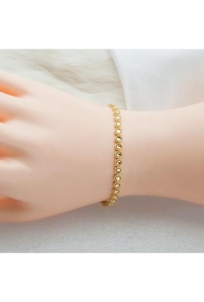 Label Jewelry Label Kalemli 14 Ayar Altın Bileklik