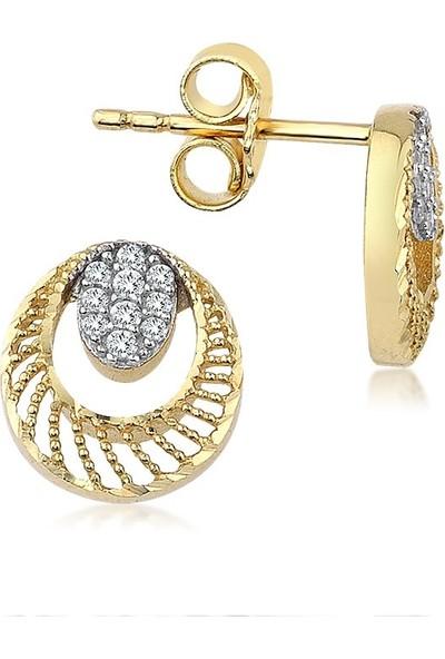Label Jewelry Taşlı 14 Ayar Altın Mini Takı Seti