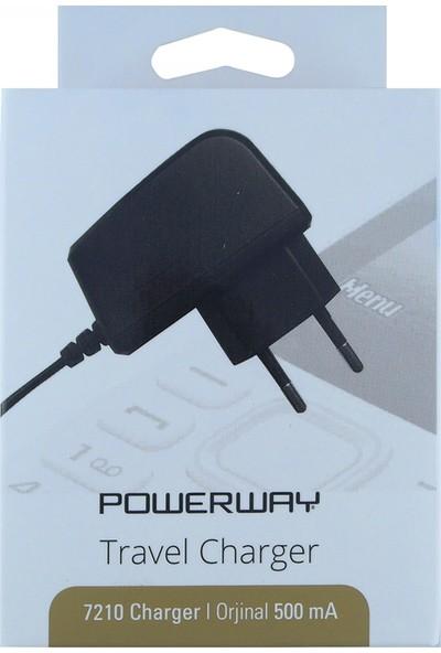 Powerway 7210 Plastik 500 mAh Sabit Kablo + Nokia Kalın Uçlu Kablo Ev Tipi Şarj Cihazı