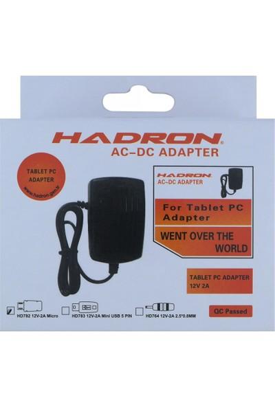 Hadron HD782 Plastik 2000 mAh Sabit Kablo + Micro Usb Data Kablo Ev Tipi Şarj Cihazı