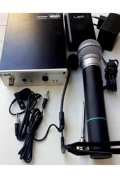 Telsiz Mikrofon Lem L300 Komple Telsiz Mikrofon Seti