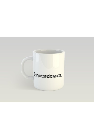 Minimal Motto Tasarımlı Kupa