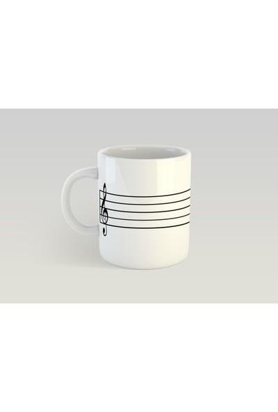 Minimalist Mug Designs Minimal Müzik Tasarımlı Kupa