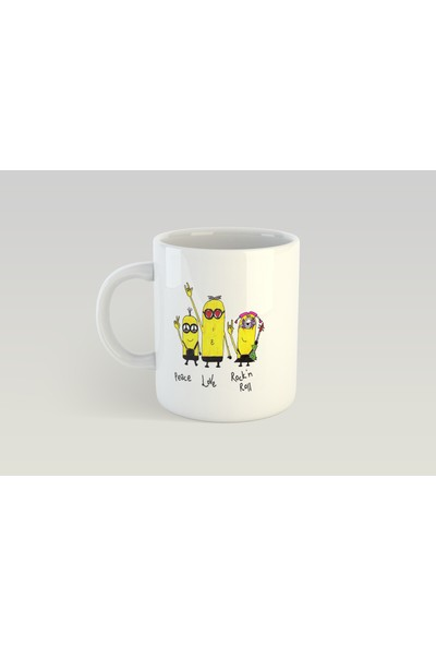 Minimalist Mug Designs Minimal Özel Minions Tasarımlı Kupa