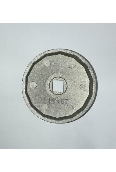 UygunShop Renault Toyota Honda Uyumlu Yağ Filtre Sökme Anahtarı 67 mm 14 Köşe