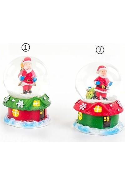 Kullan At Market Noel Baba Kar Küresi Yılbaşı Hediyesi 4,5X7CM 1 Adet