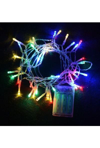 Kullan At Market Yılbaşı Pilli LED Işık 6m 50 Ampül Renkli