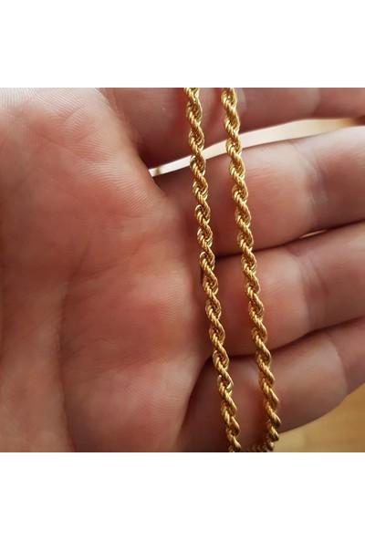 Altınsepeti Altın Burgulu Halat Zincir 60 cm AS8Z01