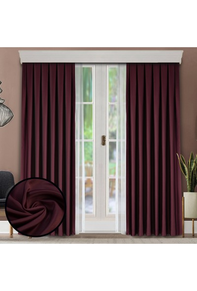 Fersa Decor Bordo Blackout Perde- DÜZ DİKİM