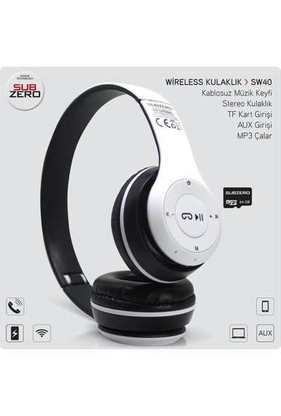 Subzero SW40 Bluetooth Kulak Üstü Kablosuz Kulaklık