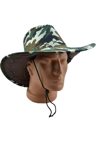 Esrenkli Kamuflaj Fötr Şapka