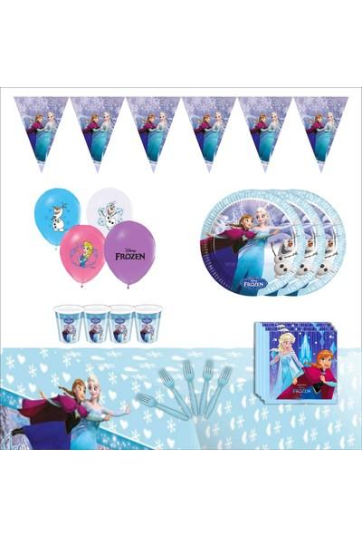Bayhesaplı Elsa Frozen Karlar Ülkesi Doğum Günü Parti Seti 16 Kişilik