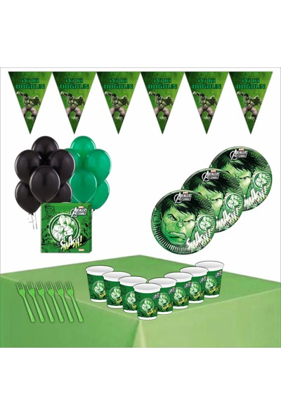 Bayhesaplı Hulk Doğum Günü Parti Seti 24 Kişilik