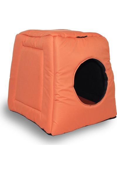 Zeepmax İç Dış Mekan Kedi Köpek Yatağı Minderli Kulübe
