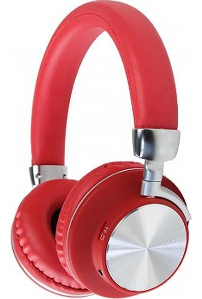 Coverzone Music 98 Kulak Üstü Bluetooth Kulaklık Kırmızı