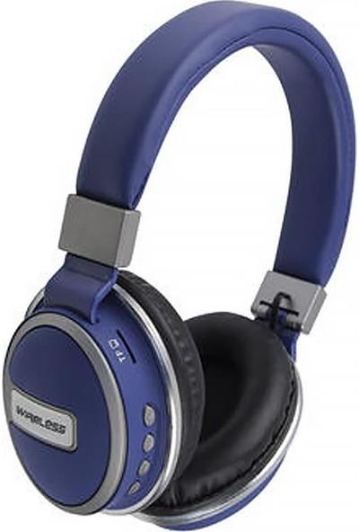 Coverzone Music 560 Kulak Üstü Bluetooth Bass Kulaklık Lacivert