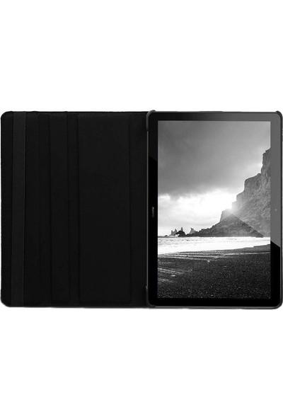 """Coverzone Huawei MediaPad T5 Kılıf 10"""" Dönerli Standlı Kılıf Mor"""