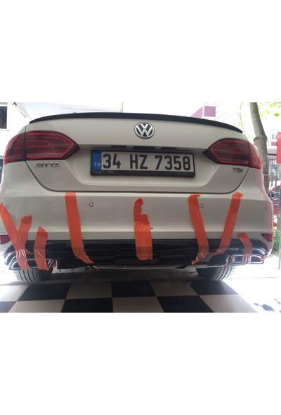 BTG Volkswagen Jetta Makyajsız Egzoz Görünüm Difüzör (Plastik)