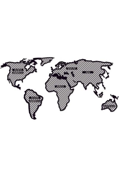 St Design Mdf Dünya Haritası