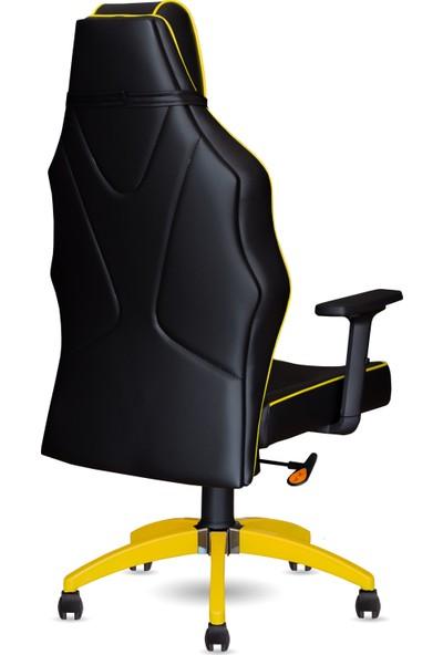 Calitte   Harley VIP RX   Profesyonel Oyuncu Koltuğu   Siyah-Sarı-Ayak