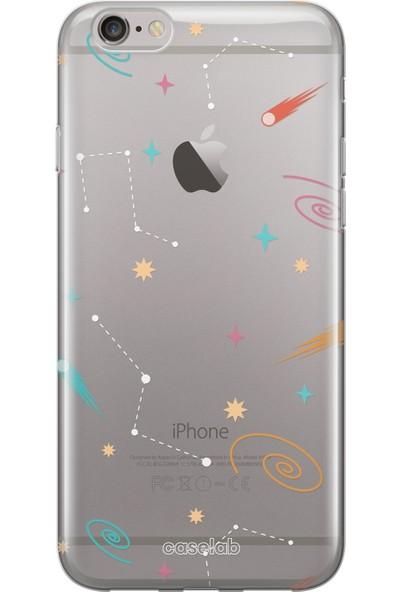 """Caselab Apple iPhone 6 / 6s """"Spaced Galaxies"""" Tasarımlı Şeffaf Kılıf"""
