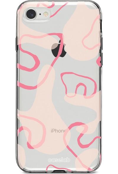 """Caselab Apple iPhone 7 / 8 """"Smoke Pink"""" Tasarımlı Şeffaf Kılıf"""