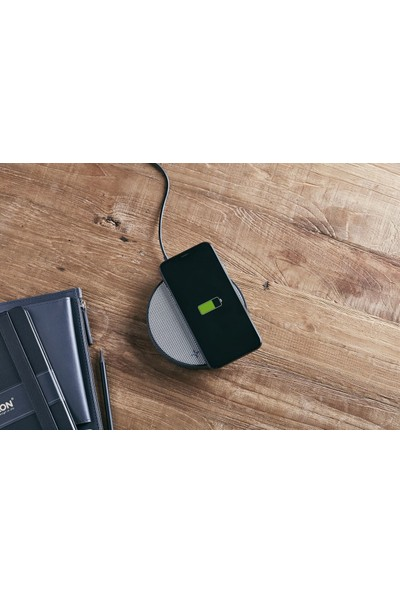 Lexon Oslo Energy Kablosuz Şarj Cihazı / Bluetooth Hoparlör Gri LA116GG