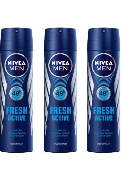 Nivea Men Deodorant Fresh Active 3 x 150 ml