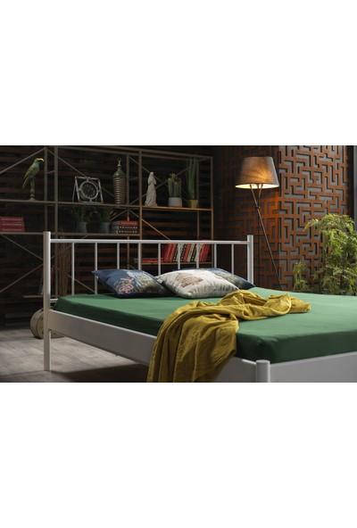 Unimet Falez-S Tek Kişilik Metal Karyola 90 x 190 cm Beyaz