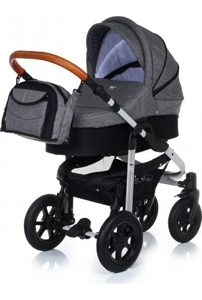My Junior Miyo Denim Grey Bebek Arabası 3 In 1 Set