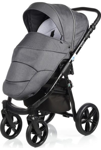 My Junior Vita Denim Dark Grey Bebek Arabası 3 In 1 Set