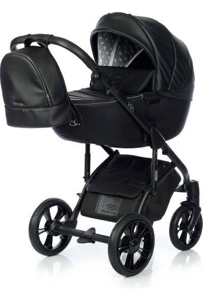 My Junior Vita Unique Black Star Bebek Arabası 2 In 1 Set
