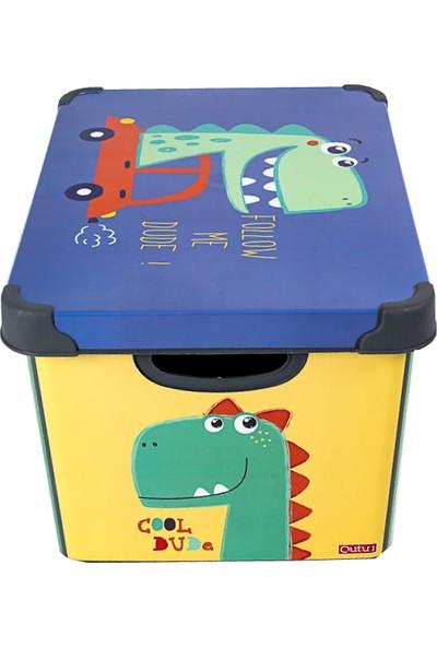 Qutu Style Box Dude Dekoratif Kutu - 20 Litre
